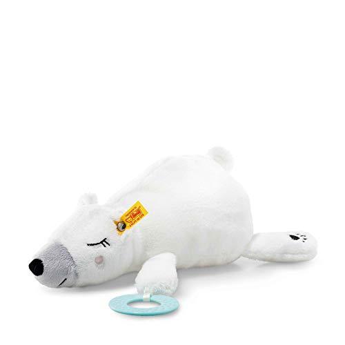 Steiff 241246 Soft Cuddly Friends Iggy Eisbär mit Greifring, weiß