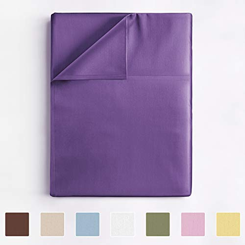 Twin Size Flat Sheet - Single Flat Sheet Twin - Flat Sheet Only - Flat Sheet Deep Pocket - Flat Sheet for Twin Mattress - Softer Than Egyptian Cotton - 1 Twin Flat Sheet Only Sold Seperate