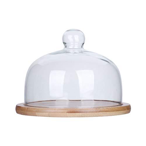 C-J-Xin Pain ménage dôme, verre dôme gâteau dôme assiette à dessert salon plateau de mariage dôme transparent Pizza Dôme Présentoirs à gâteau (Size : 26 * 26 * 11CM)