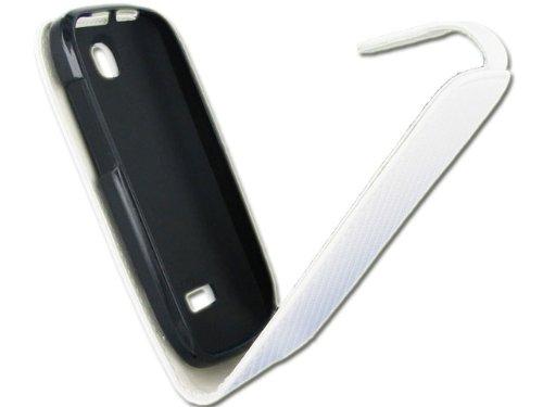 Colorfone Hama Chic Case - Flip Cover per Wiko Cink Peax, Bianco