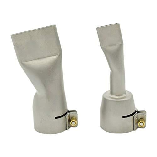 Duradero Boquillas de soldadura de 2 piezas para el calor de aire caliente de Leister BAK 20 mm y boquilla de soldadura plana de 40 mm Reemplazar partes antiguas (Caliber : Other, Power : 60W)