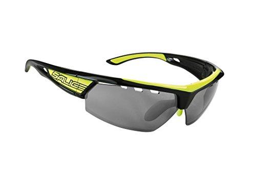 Salice 005RWB - Gafas de Ciclismo, Color Negro/Amarillo, Tal