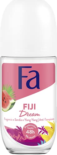 Fa - Desodorante Roll-On Fiji Dream - Fragancia de Sandia e ylang ylang - 50ml