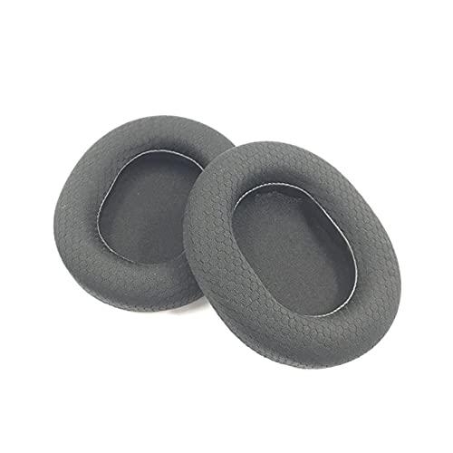 XQxiqi689sy Earphone Sleeves Fine Workmanship E-Sports Comfortable Headphone Cushions 1 Pair Practical Black