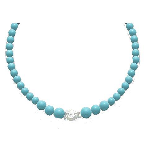 Miluna - Collana di perle Miluna TERRA MARE turchese e perla in argento 925%