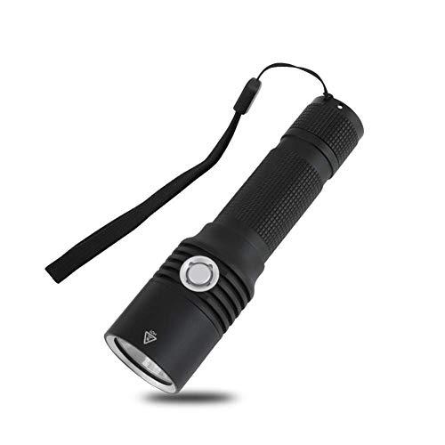 QGL-HQ Super lampe de poche rechargeable USB lumineux en alliage d'aluminium mini lampe de poche en plein air de randonnée imperméable à l'eau for un usage domestique