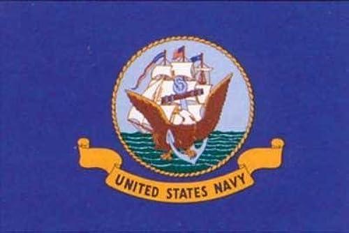 3' X 5' Navy Flag with pÃle Sleeve - Nylon by CF Flag