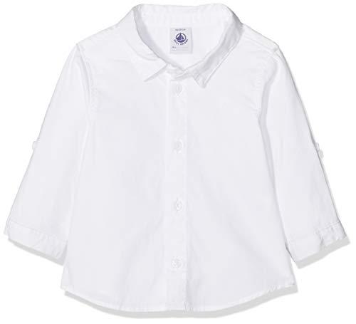 Petit Bateau Petit Bateau Baby-Jungen 434090 Hemd, Weiß (Ecume 01), 80 (Herstellergröße: 12m/74cm)