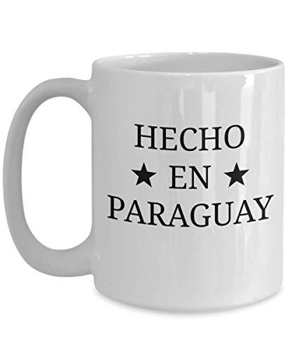 N\A Taza de café de Paraguay Taza Blanca Personalizada de Regalo paraguayo de Paraguay