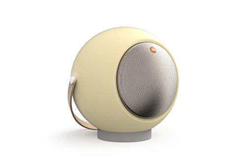 UB+ Eupho E2 Bluetooth-Lautsprecher, Ultraleicht, bis zu 30 Stunden Wiedergabe, TWS (Paar Zwei), HD-Sound, 95bd Lautstärke, klares Audo und tiefes Bass, kurzes Beinstativ – Pastellgelb