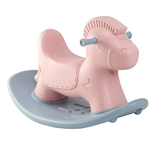 Great Price! Plastic Cute Rocking Horse for Kids Gift Pink Color