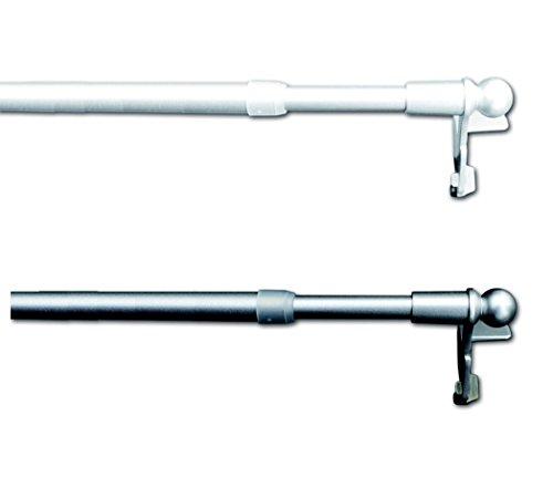 Jellinghaus Sonnenschutz Klemmstange Easy Silber oder weiß ausziehbar 30-40cm, 40-60cm, 60-80cm, 80-100cm, 100-130cm, ohne Bohren Vitrage zum Klemmen Klemmstange (weiß, 60-80 cm)