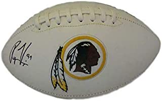 Ryan Kerrigan Autographed Football - Logo 13903 - JSA Certified - Autographed Footballs
