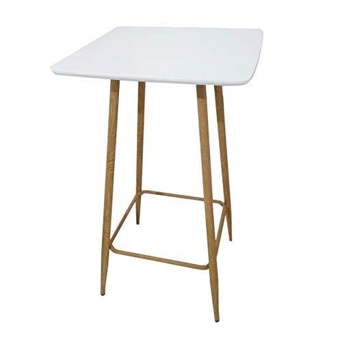 THE HOME DECO FACTORY Table Mange Debout Blanche, Métal-Acier, Blanc, 43 x 40 x 43 cm