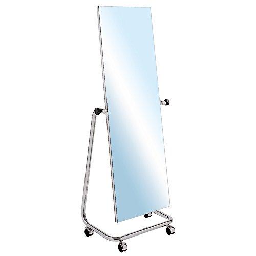ShopDirect Professioneller Standspiegel Spiegel einseitig Garderobenspiegel Anprobespiegel Therapiespiegel - fahrbar, H 164 cm