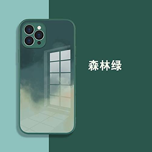 Custodia in vetro temperato per iPhone 12 Max-Forest Green_iPhone 12