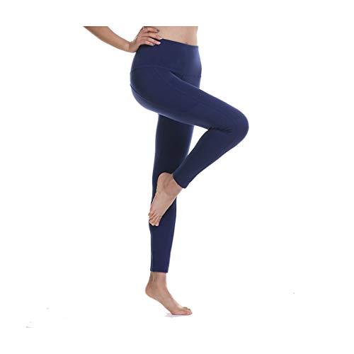 KKMAOAO Damen Yoga-Hose, modische Hose, für Training, Tanz, Hüfte, hohe Taille, Stretch, dünn, Fitness-Hose, Marineblau, Sport-Hose, Sommer, Outdoor, Reisen, Wild XL farbe