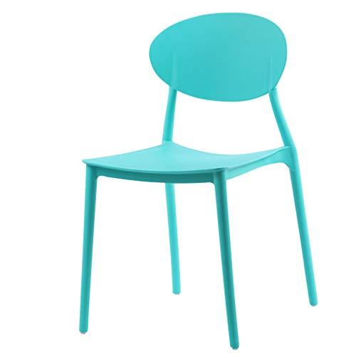 ROMA LT Chaise Nordique Chaise en Plastique Simple Salle à Manger Chaise Loisir créatif Chaise Maison café Balcon Bureau extérieur Chaise Arrondi Coin Design créatif, empilable