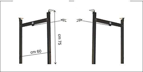 Kit 2 gambe pieghevoli cm 60 per tavolo set birreria fai da te