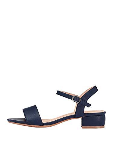 Marypaz, Sandalia plana básica moda verano para Mujer Azul 39 EU