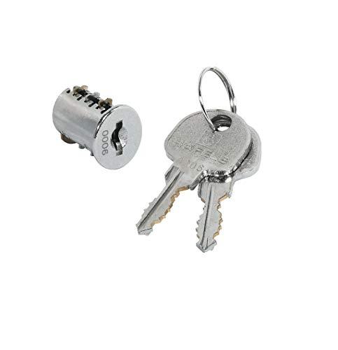 Gedotec Schließzylinder für Möbel-Schloss Wechsel-Zylinder für Kasten-Schloss - H6151 SYMO | Zylinderkern für Schrank-Schloss | SH 1 gleichschließend | 1 Set - Schubladenschloss Einsatz vernickelt