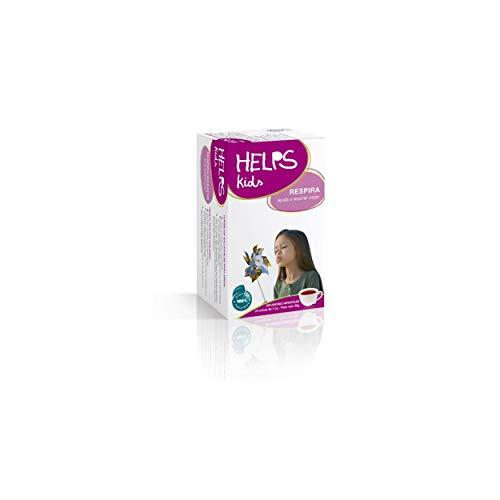 HELPS INFUSIONEN - Infusion für Kinder und Babys, um besser zu atmen. Expecorante Infusion. Atmen, Husten und Erkältungen. HELPS zu atmen. Schachtel mit 20 Beuteln.