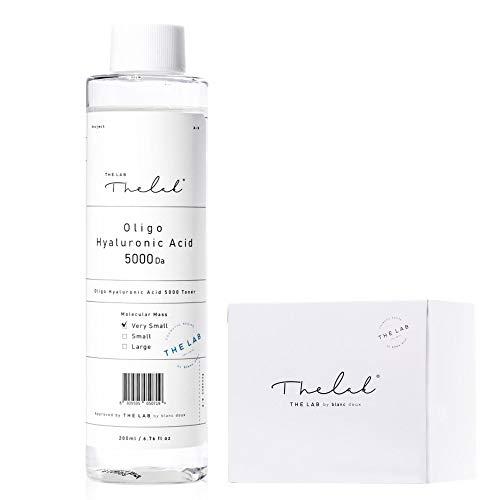 Blanc Doux Oligo Hyaluronic Acid 5000 Toner - Hydrating Face Moisturizer for Sensitive Acne Aging Dry Skin 6.76 fl.oz. with Cotton Pads - Vegan Certified Hypoallergenic Moisturizing Korean Skin Care