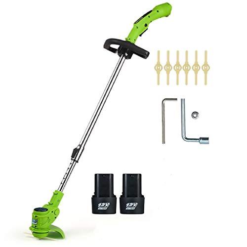 DEALRITE 12 V portátil bordeadora y cuerda cortadora inalámbrica para cortar malezas kit cortador de poda herramientas de jardín adecuado para jardín césped con 2 baterías