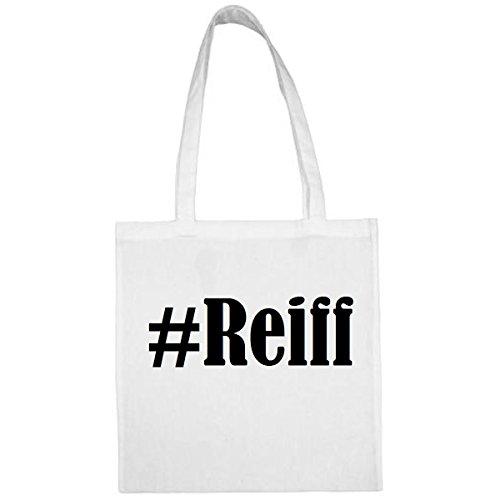 Tasche #Reiff Größe 38x42 Farbe Weiss Druck Schwarz