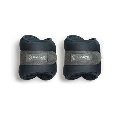 Pvolve 3lb Ankle Weights for Home Workouts  Teal with Gray