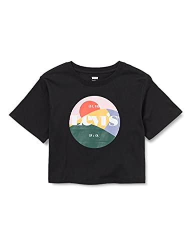 Levi's Kids LVG High Rise Tee Shirt C767, Black, 16 Ans Girls