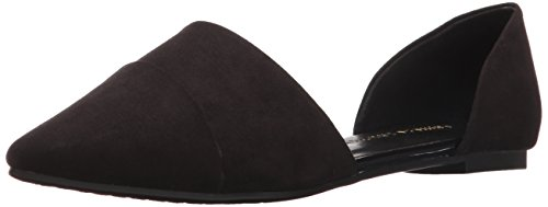 Chinese Laundry Women's Easy Does It D'Orsay Flat, Black Suede, 6 M US