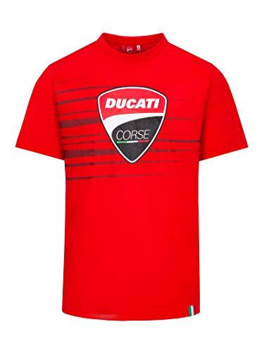 Ducati Corse Logo Stripe Offizielles MotoGP T-Shirt - Rot - XL