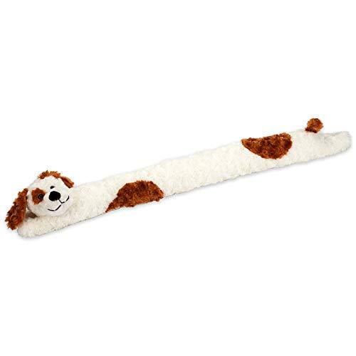 Bits and Pieces - Plüschhund Zugluftstopper - Hund Türabdichtung Fensterdichtung Zugluftrolle - Läßt die Wärme drinnen und die Kälte drausen - auch Lärmdämpfend