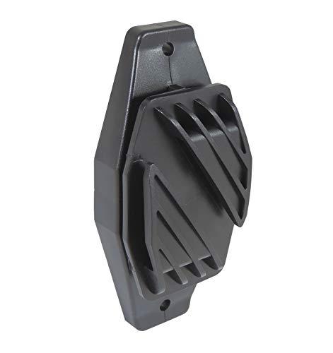 Eider 25x Weidezaun Breitbandisolator 40 mm schwarz - Zum Schrauben, oder nageln - robuster Kunststoff