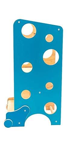La Torre de Leea, Torre de aprendizaje Montessori con silla alta, mesa para actividades, tobogán, pizarra magnética (Azul)
