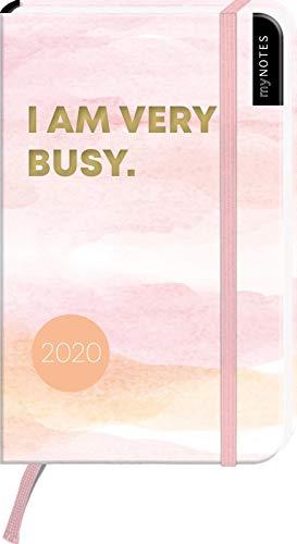 myNOTES Buchkalender I am very busy 2020 - der trendige Taschenkalender für alle Termine, Pläne und Ideen
