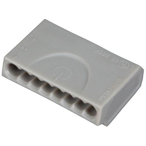ViD® C1008151 Verbindungsklemme/Steckklemme grau 8 x 0,5-1,5 mm² - 50 STÜCK Dosenklemme