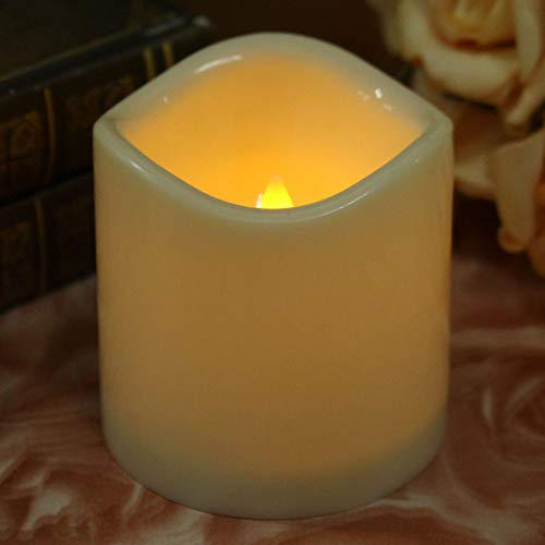 XHSHLID vlamloze cilindrische LED-lampen voor nachtlampje, werkt op batterijen, voor theelichtjes in de slaapkamer of als decoratie voor bruiloften
