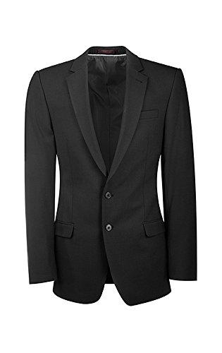 GREIFF Herren-Sakko Premium, Stretch, Slim Fit, 1108, Farbe: Schwarz, Größe: 106