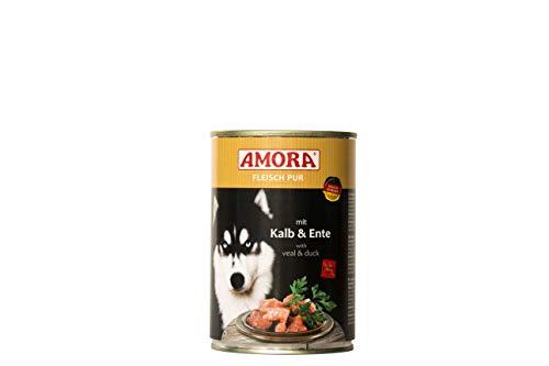 Amora Fleisch Pur Sorte Kalb+Ente 12 x 400g Hundefutter nass