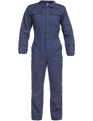 BWOLF ANAX Arbeitsoverall Herren Overall Herren Arbeitskleidung 100% Baumwolle Arbeitsoveralls mit 5 Taschen (Blau, XL)