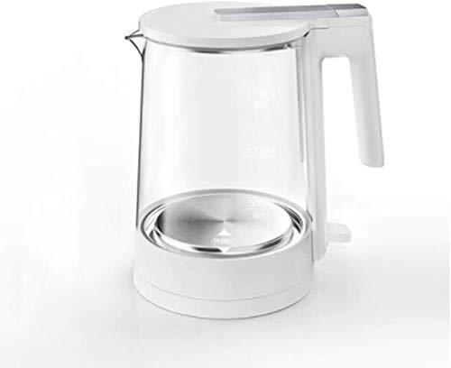 Bouilloire induction Théière à bouilloire électrique électrique 1.5L chauffage rapide de la température de la température Verre bouillir-sec pour le thé au café Brasser 1800W WHLONG