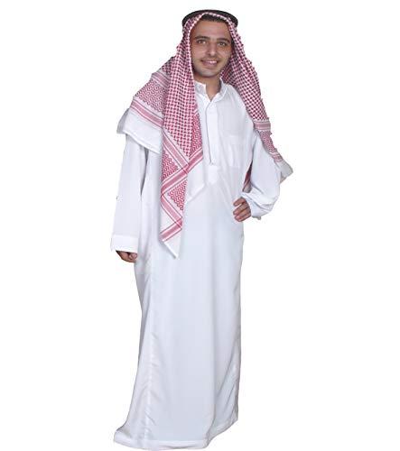 Egypt Bazar Dreiteiliges Araber Scheich Kostüm Scheichkostüm, Karnevalskostüm - Faschingskostüm-Größe: L, (52-54) Weiss