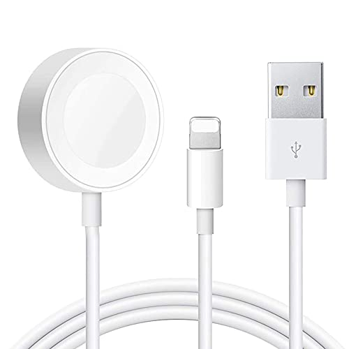 Hoidokly Cargador Inalámbrico Magnética, 2 en 1 Charger y Cable de Carga Portátil para iWatch Series SE/6/5/4/3/2/1, iPhone 12/12 Pro Max/11 Pro/XS/XR/X/8/7/iPad Air Pro Mini