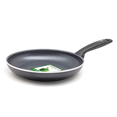 GreenPan kleine Brat-Pfanne 20-cm Ø mit Antihaft-Beschichtung aus Keramik Backofen-geeignet bis 180 Grad Spülmaschinen-fest, Aluminium, Schwarz