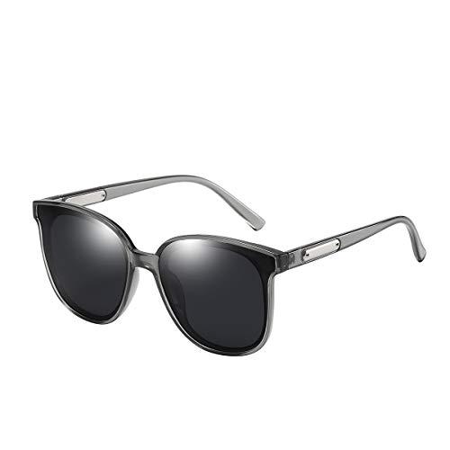 GUANGE Gafas De Sol Moda Mujer para Mujer Protección UV400 Diseño Elegante Retro Gafas Ciclismo Polarizadas para Aire Libre Deportes Regalos para Damas,Gris