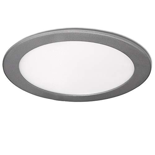 Greenice | Placa de LEDs Circular 240Mm 20W 1860Lm 30.000H Plata | Lámpara LED | Downlight LED | Panel LED Techo | Oficina, Fábrica, Pasillos, Baños | Blanco Frío