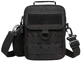 Crossbody Bags For Leisure - Tactical Chest Bag Men Nylon Multi-function Troop Shoulder Bag Crossbody Bag - Black -