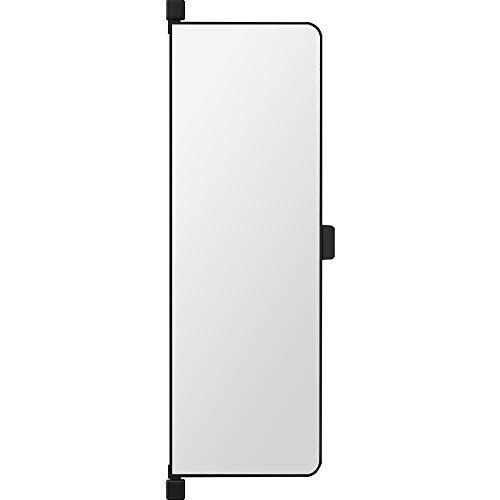 Espejo de armario, espejo de cuerpo entero, espejo deslizante incorporado, espejo de vestidor giratorio oculto, puerta abatible lateral, espejo de vestidor plegable, espejo de vestidor con marco neg